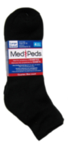 Medipeds Mens Diabetic Quarter sock