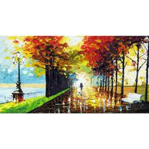 Design Art - Continuer - Paysage Nature - Toile Tendue - 32 x 16