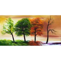 Design Art Changing Seasons Canvas Wall Art