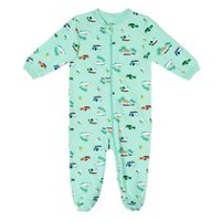 George baby Boys' Graphic Sleeper Green 12-18 months