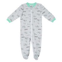 George baby Boys' Graphic Sleeper Grey 3-6 months