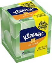 Kleenex® Anti-Viral* Tissues, Upright, 68 Count