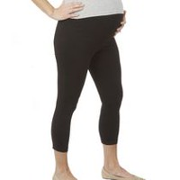 George Maternity Capri Leggings Black L