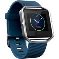 Montre d'entraînement intelligente Blaze de Fitbit Bleu Grand