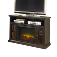 Pleasant Hearth Riley Media Electric Fireplace - 23 Inches,  Espresso