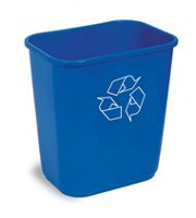 Continental Small Recycling Waste Receptacle Bin