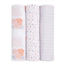 Rosy 3 Pack Swaddles