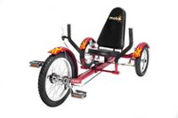 Mobo Triton Classic, Ultimate Three-Wheeled Cruiser, Red