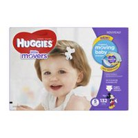 Huggies Little Movers Diapers, Economy Pack Size 5