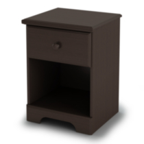 South Shore Summer Breeze 1-Drawer Night Stand Chocolate