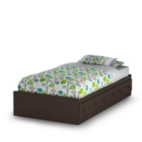 South Shore Summer Breeze Collection Twin Mates Bed Brown