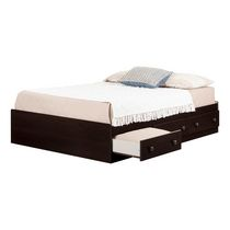 South Shore Summer Breeze Collection Full Size Mates Bed Brown