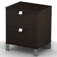 South Shore Spark 2-Drawer Night Stand Chocolate