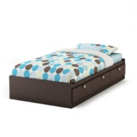 South Shore Spark Collection Twin Mates Bed Chocolate