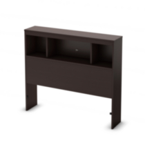 South Shore Spark Collection Twin Bookcase Headboard Brown
