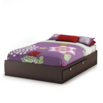 South Shore Spark Collection Full Mates Bed Chocolate