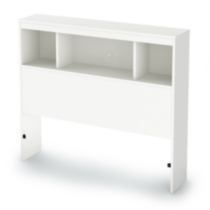 Tête de lit bibliothèque collection Spark de Meubles South Shore, simple (39 po) Blanc