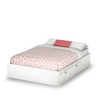 South Shore Spark Collection Full Mates Bed White