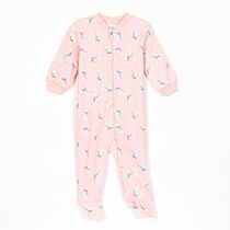 George Baby Girls' One-Piece Sleeper with Zip Closure Coral 12-18 months