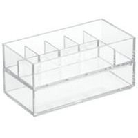 "Mainstays  8"" x 4"" x 4"" Clear Cosmetic Organizer Stacker Set"