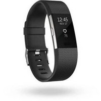 Fitbit Charge 2 Black Silver Small Activity Tracker Black Large