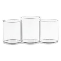 Mainstays Clear Cosmetic Organizer Trio Cup