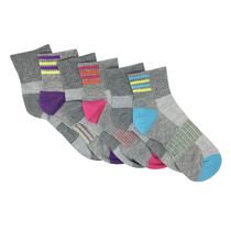 Danskin Now Women's Ultra Light Ankle Socks 6pk Grey
