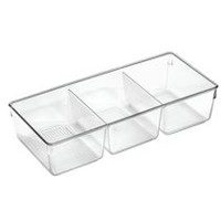 Mainstays 3-Compartment Clear Cosmetic Organizer Tray