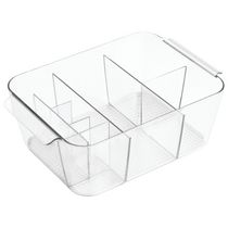 Mainstays Divided Clear Cosmetic Organizer Tote