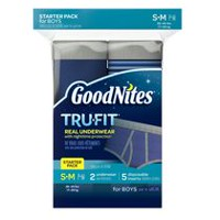 GoodNites Tru-Fit Real Underwear with Nighttime Protection Starter Pack for Boys, S/M L/XL