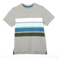 George Boys' Short Sleeved Cotton Tee Gray M/M