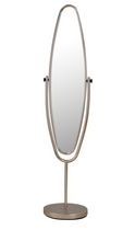 REX-STANDING MIRROR-SATIN NICKEL