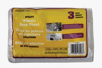 Project Select Utility Plastic Drop Sheet - 2.74 m x 3.66 m, Pack of 3