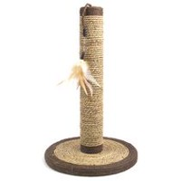 Rosewood Pet Seagrass Feather Post Cat Scratcher