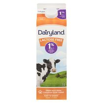 Dairyland Plus Lactose Free 1% Milk Carton