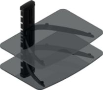 TygerClaw Double Layer DVD Stand (LCD8217BLK) – Black