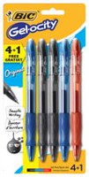 BIC Gelocity® Gel Pens Assorted 4+1 bonus pack