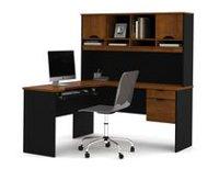 office furniture photos. Innova L-shaped Desk In Tuscany Brown \u0026 Black Office Furniture Photos