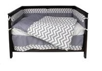 Twinkle Twinkle Chevron 4 Piece Crib Bedding Set