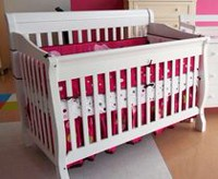 Concord Baby Sara 4 in 1 Crib White