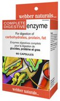 webber naturals Capsules Enzymes digestives complets - paq. de 60