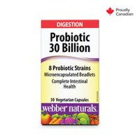 webber naturals Digestion Probiotic 30 Billion - 30 Capsules