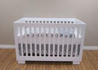 Concord Baby Metro 4-in-1 White Baby Crib