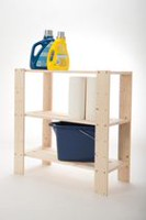Adwood Pine 3 Shelf Pine Wood Storage