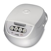 Tiger JBV-A 5.5 Cup Micom Rice Cooker with Food Steamer and Slow Cooker, White