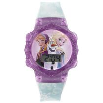Disney Frozen Girl's Flashing Lights LCD Watch