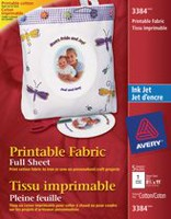 Avery Full Sheet Printable Fabric for Inkjet Printers