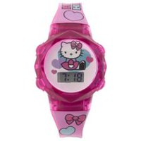 Hello Kitty Girl's Flashing Lights LCD watch