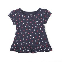 George baby Girls' Ruffled Tunic Navy 12-18 months