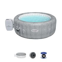 """SaluSpa Honolulu 6-Person Inflatable Hot Tub 77"""" x 28"""" With Soothing Bubble Massage"""